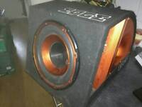 Edge sub woofer bass box active amp and wires 750 w watts car