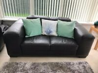 2 , Brown Leather 2 Seater Sofa's