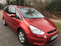 FORD S-MAX 2.0 TDCI ZETEC 07 REG 7 SEATER IN RED WITH GREY TRIM, FULL SERVICE HISTORY,MOT FEB 2019