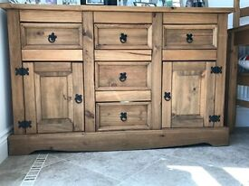 Corona Mexican Pine Sideboard Drawer Unit