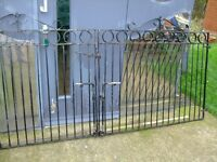 doubles gates wrought iron