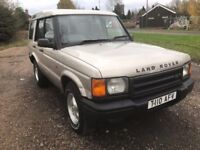 99T LAND ROVER DISCOVERY 2.5 TDI SILVER NO MOT OFFROAD BF GOODRICH TYRES NO RUST DRIVES GOOD PX SWAP