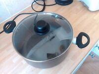HOME 28 cm Aluminium Stock Pot, saucepan, collection only