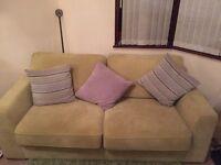 Sofa 3 piece set two a one and a snuggle swivel £300 Ono