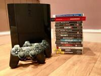 BARGAIN PS3 SLIM 500GB | 2 PADS | 14 GAMES
