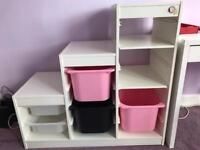 Ikea shelf with boxes SOLD