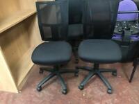 Black Mesh Operator Chairs