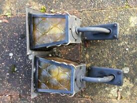 Pair of outdoor lights
