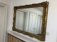 Large Renaissance Antique Gold Ornate Wall Mirror 123x93cm Wood Plaster Frame