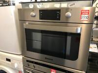 Hoover HMC440PX 46cm High Built In Combination Microwave Oven in Stainless Steel