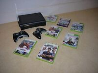 Xbox 360 120GB HDD with 7 games and two controllers