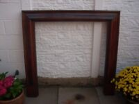 Antique Style Wooden Fire Surround.