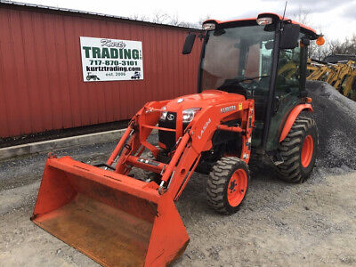 2016 Kubota B3350 4x4 Hydro Compact Tractor W Cab Loader Only 700 Hours