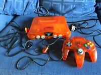 N64 Nintendo 64 orange funtastic ltd Edition console