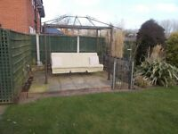 SWING GAZEBO converts to double bed. Bargain £150 ono