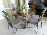 Beautiful Wrought Iron Dining Set