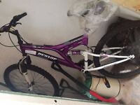 """Dunlop Sport Mountain Bike with Dual Suspension and 18 Shimano Gears, 26"""" Wheels"""