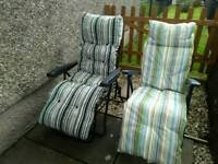 Outdoor summer recliners