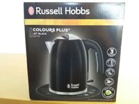 Russell Hobbs Stainless Steel Black Kettle - Brand new/boxed