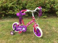 "Girls Pink 12"" Zinc Cupcake Bike - age 3 to 5"