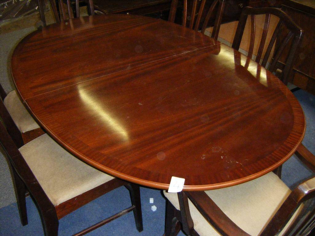 Oval Dining Table With 6 Chairs In Finaghy Belfast