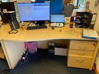 Office tables and pedestals