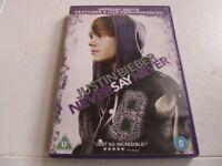 JUSTIN BIEBER- NEVER SAY NEVER DVD