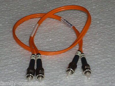 LWL Cable Micron // ST -STECKER // Siecor optical Cable 50/125  // ca 50cm
