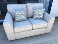 Grey fabric 2 seater sofa & matching armchair (New ex display)