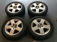 Audi TT Alloy wheels 16 inch with two good tyres