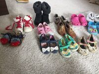 Bundle of girls shoes size 6-7 - 15 pairs