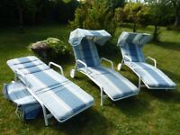 Set of 3 Sun Loungers in very good condition