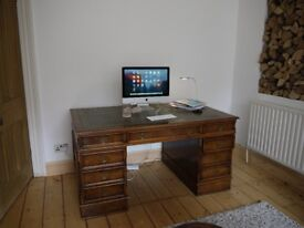 World Map Glass Desk Ikea. Large Partners Desk  A large Walnut with brass handles and a green leather skiver IKEA Glass world map DESK in Bishopston Bristol Gumtree