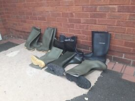 Wellies x 8 pair's size 10