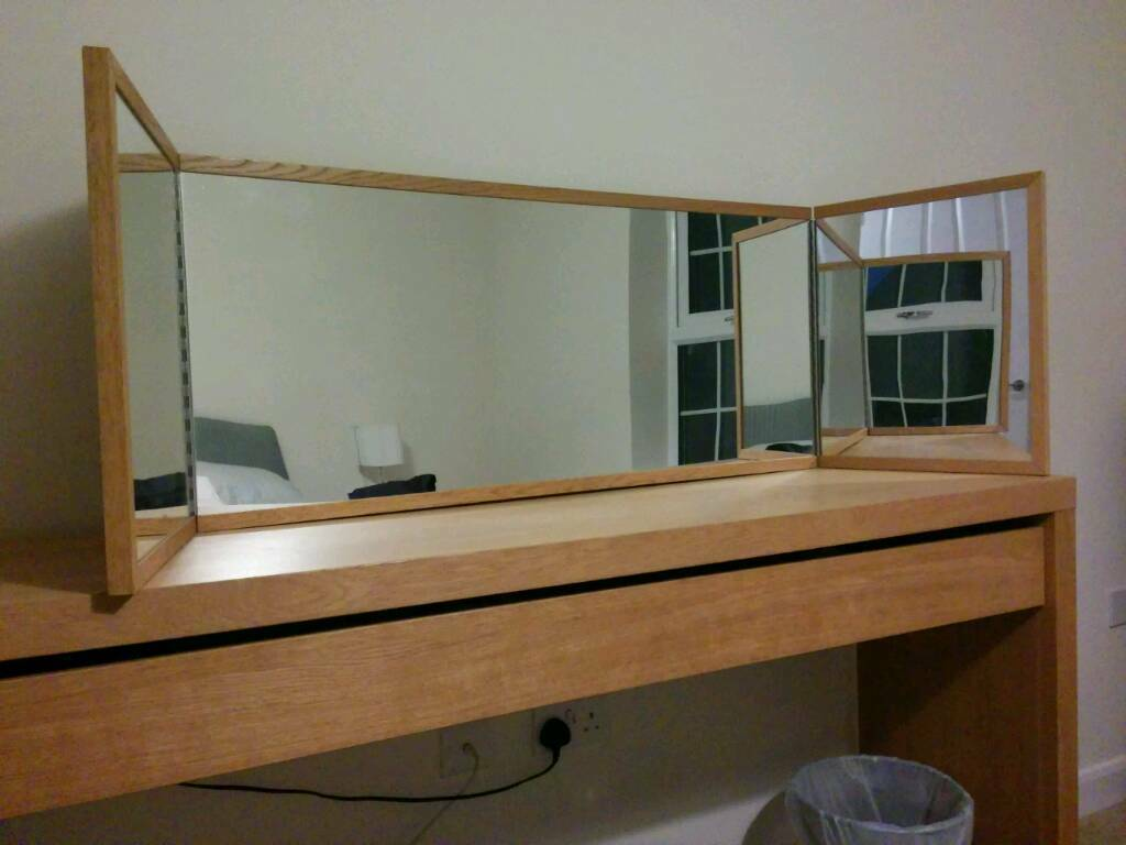 Ikea malm dressing table mirror in oak mirror only in for Ikea dressing mirror