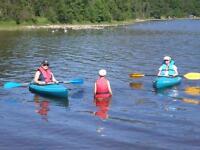2 x kiwi perception canoes,life jackets & paddles