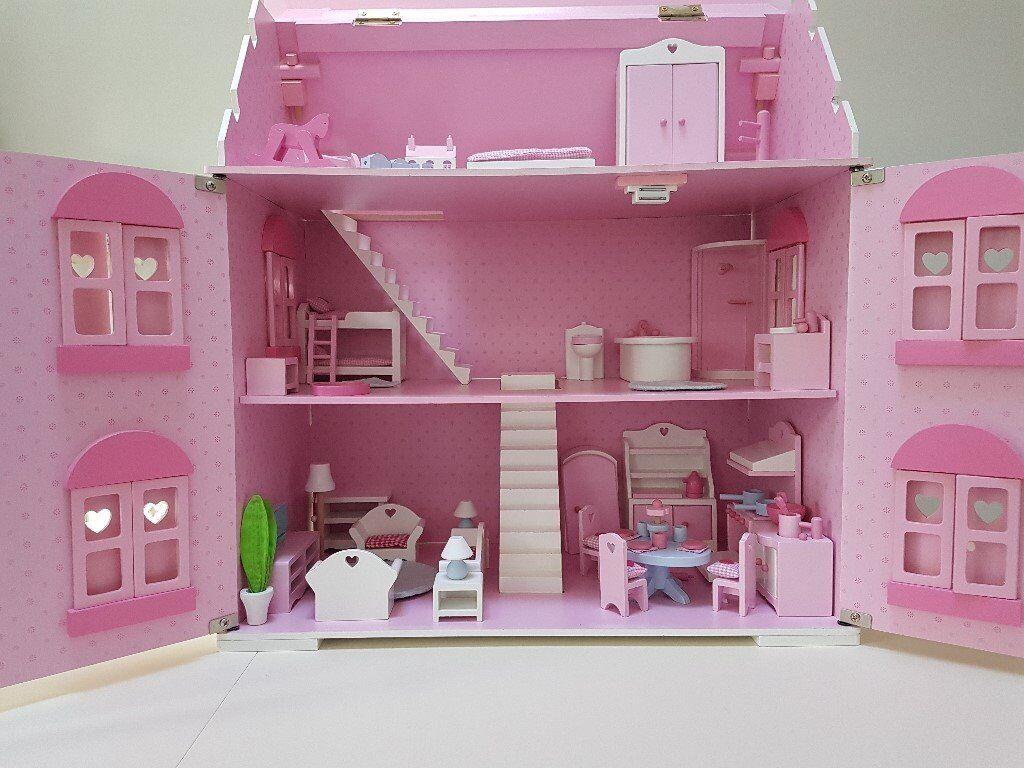 ELC Rosebud Doll House & Accessories