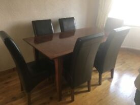 Dining Table, Chairs, Sideboard and TV unit