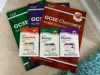 GCSE AQA Triple Science Guides & Revision Question Cards NEW