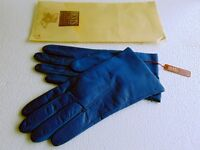 """Dents"" Leather Gloves ( Size 7 ) Soft, Blue & Fantastic Quality, BNWT, Cost approx £40, Sell for £4"