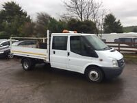 12 Ford Transit 350 LWB Double Cab Alloy Dropside Pick Up