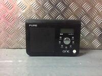 PURE DAB DIGITAL RADIO - Black - Battery - Mains - Fully Functioning