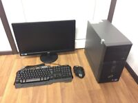Gaming Computer PC Setup 22 inch Monitor, mouse, keyboard (Intel i5, 8GB RAM, 500GB HD, GTX 1050 Ti)