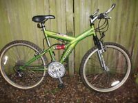 Apollo adult mountain bike front/rear suspension 21spd quick fire gears good condition free delivery