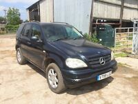 Mercedes ML320 LPG dual fuel, auto, full leather, 12 month MOT