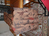 """Brown double width curtains, brown/terracotta, 3"""" pencil pleat heading, lounge curtains,"""
