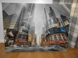 very large new york city scape canvas