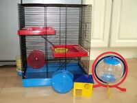 Hamster cage with accessories