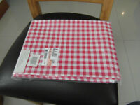 Tablecloth Red and white gingham check, easyclean. New.