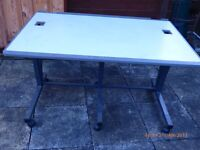 Heavy duty steel framed work table / computer station
